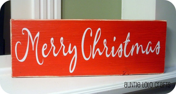 Merry Christmas Wood Sign $10.00