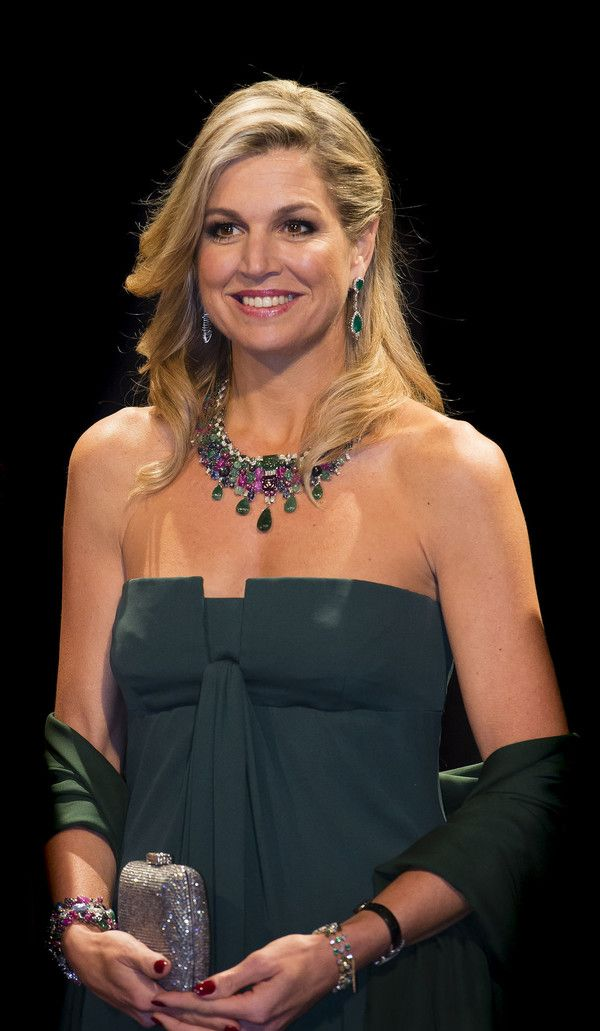 Queen Maxima in Valentino with the Tutti Frutti collection - (Belgian Royal Visit) Centre for Fine Arts concert, Amsterdam, November 2016