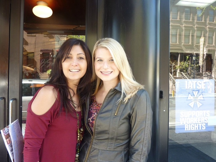 Me (Katrina Kavvalos) hanging out with Mara Glazer - Mara is the creator and founder of @thebizzybuzz - the #1 online community for bizzy women entrepreneurs who want to grow their business and live their best life! You can also connect with Mara on Twitter @MaraGlazer