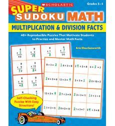 Super Sudoku Math: Multiplication & Division Facts