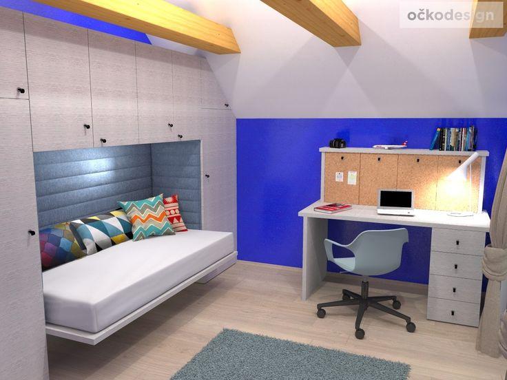 b,designový studenstký pokoj, jan navrhnout dětský, Petr Molek designer, designové interiéry, moderní dům