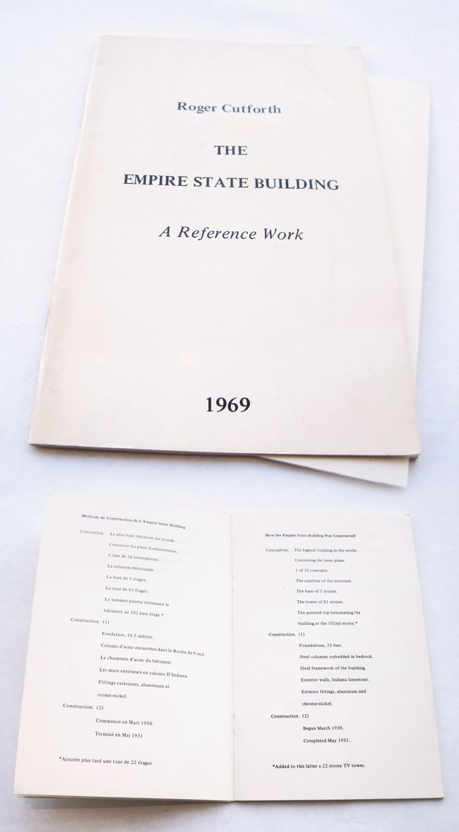 The Empire State Building : a Reference Work / Roger Cutforth, 1969.