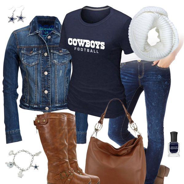 Dallas Cowboys Jean Jacket Outfit