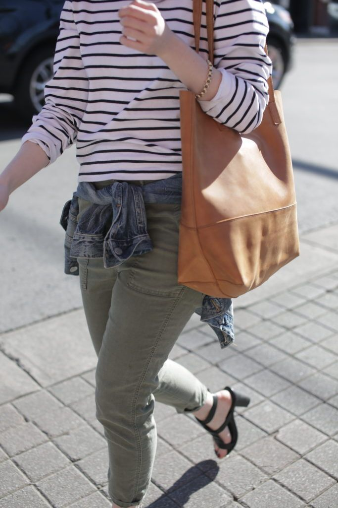 outfit: Stripes and Army Green