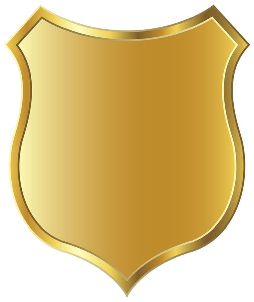 Golden Badge Template PNG Clipart Picture