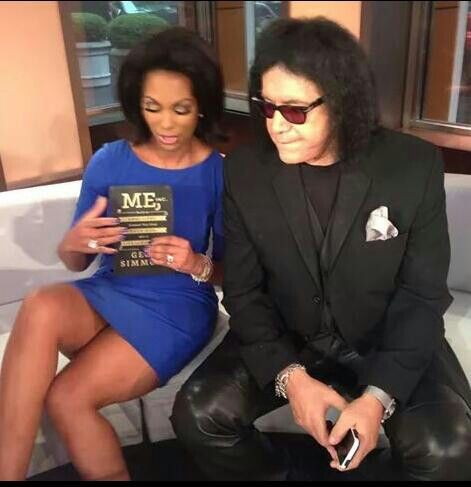 The beautiful Harris Faulkner with cool ass Gene Simmons