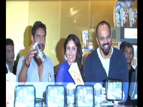 Ajay Devgan, Kareena Kapoor, Rohit Shetty   Singham Returns merchandise launch.
