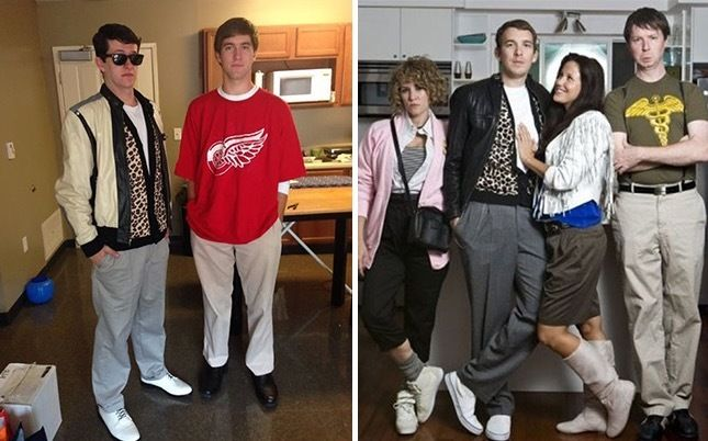 80s Group Halloween Costumes for your squad! Breakfast Club, Group Halloween Costume, 80's best costumes, 80s Halloween ideas, 80s Halloween Inspiration, Ferris Buellers Day Off, Ferris Buellers, Matthew Broderick, Alan Ruck, Cameron Frye,  Mia Sara, Sloane Peterson.