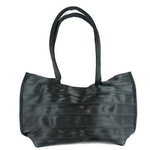 Black Seat Belt Tote with Snap - Conserve