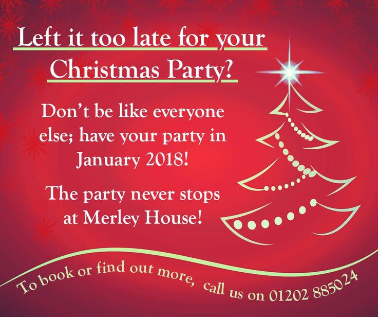 Christmas parties in December are unoriginal. Why not have a party in January when you've got more time and you need something to distract you from those January blues?!