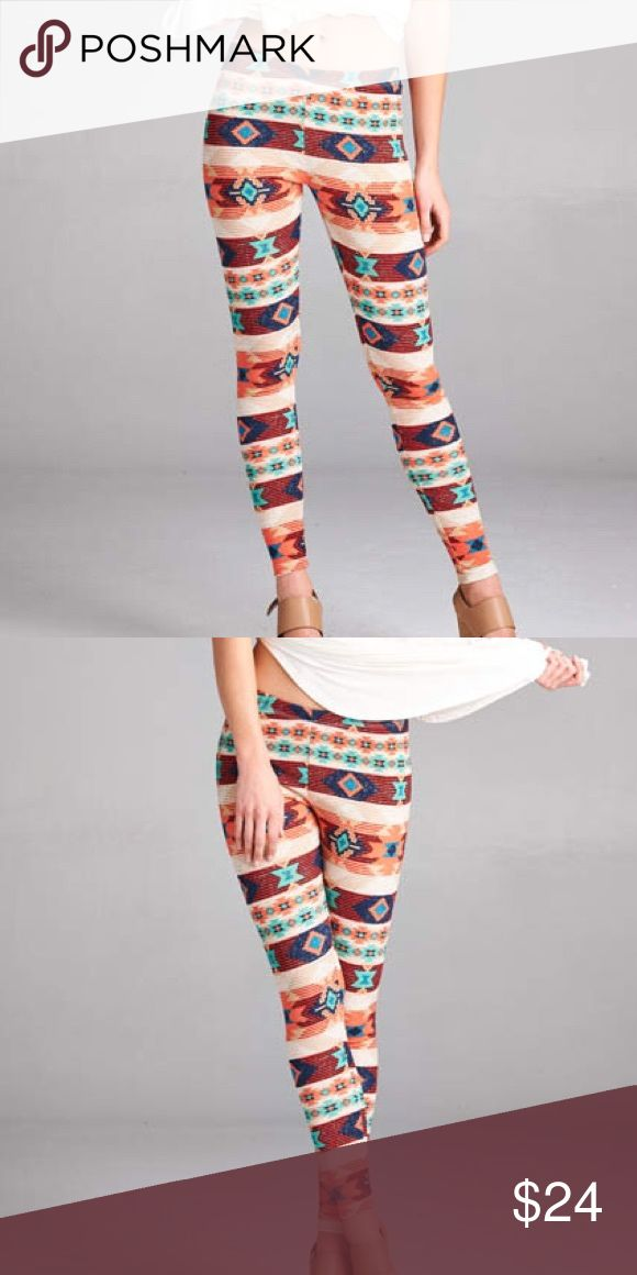 Stylish Multi Color Leggings Brand new stylish multi color leggings. Perfect to wear any season. Made of poly/ spandex blend. Pants Leggings