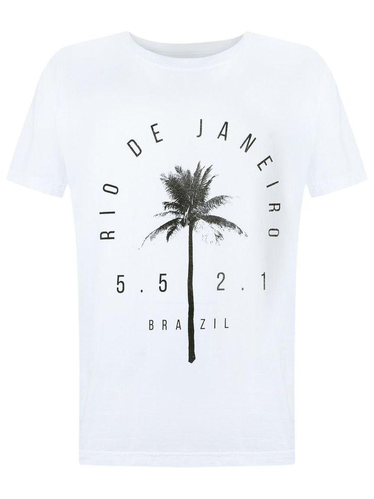 Osklen Camiseta com estampa