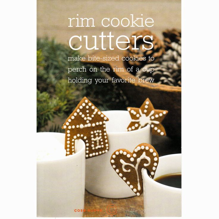 """Rim Cookie Cutters - 1 3/4"""" Heart & Star - 2 1/2"""" House Cookie Cutter - Scandinavian design. Stainless Steel for easy cleaning. Pepperkakor Ginger Snap Cookie are a favorite everywhere! https://www.scandinavianshoppe.com/store/p/1736-Rim-Cookie-Cutters-Set-of-3.html"""