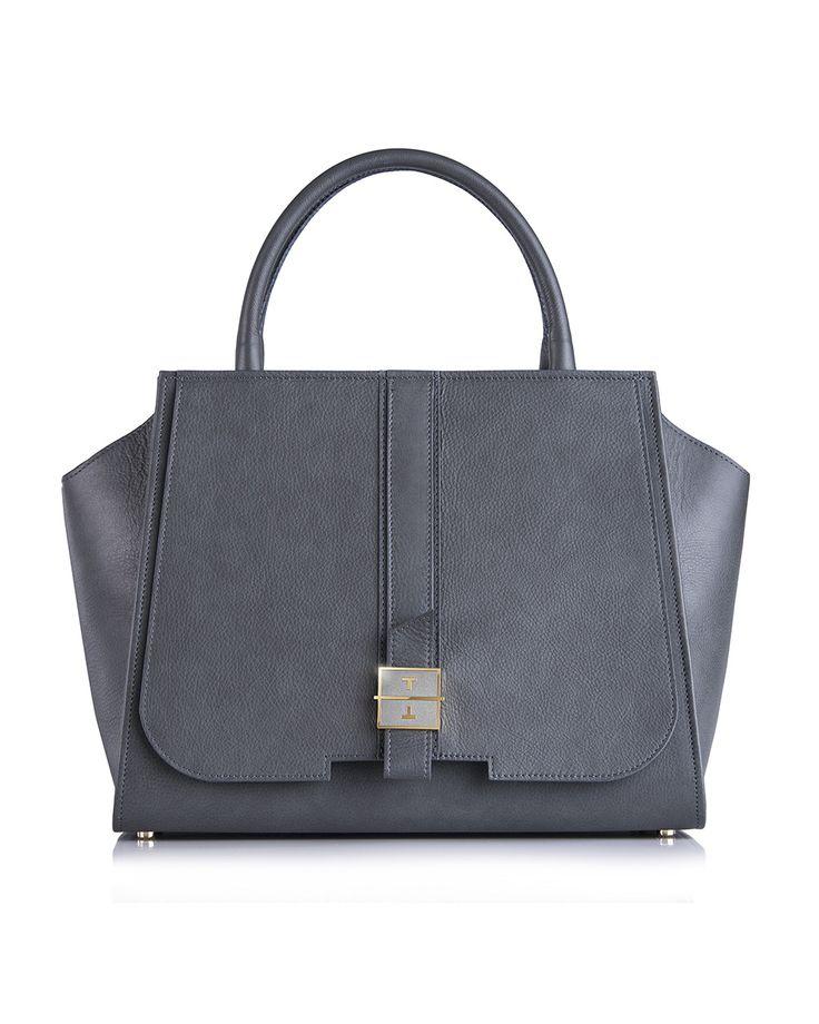 MELIA cow leather handbag in Morro Grey by TANCHEL