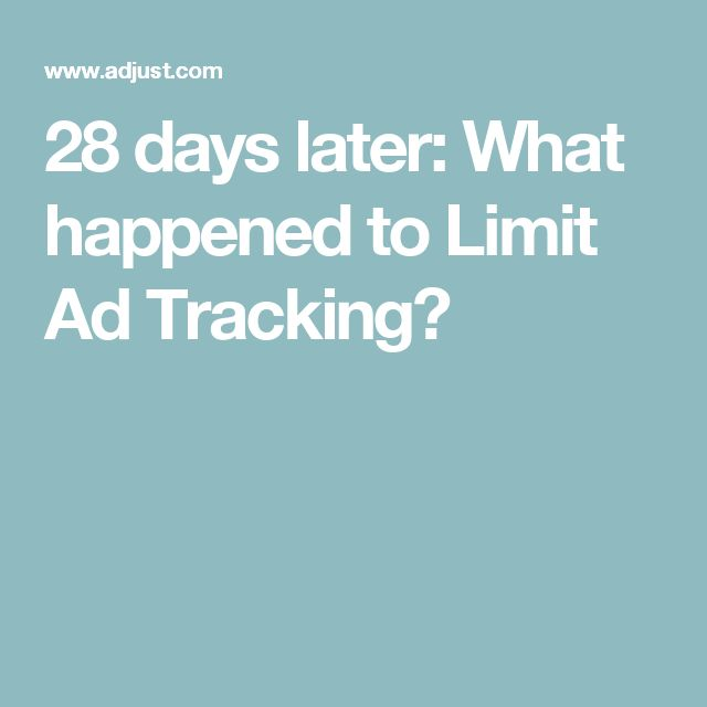 28 days later: What happened to Limit Ad Tracking?