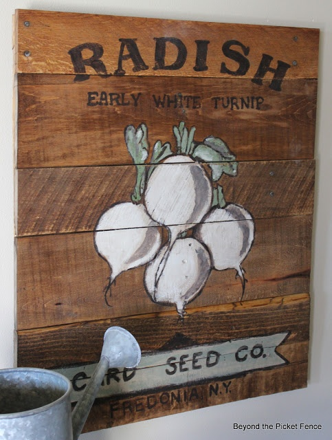 Vintage Inspired Sign at Beyond The Picket Fence