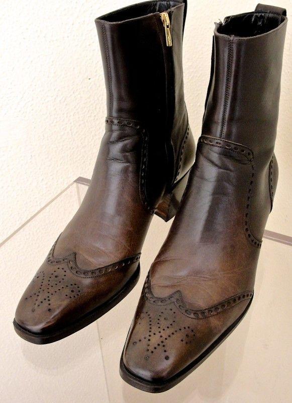 Ysl Look Alike Men S Boots Yves Saint Laurent Medium Red