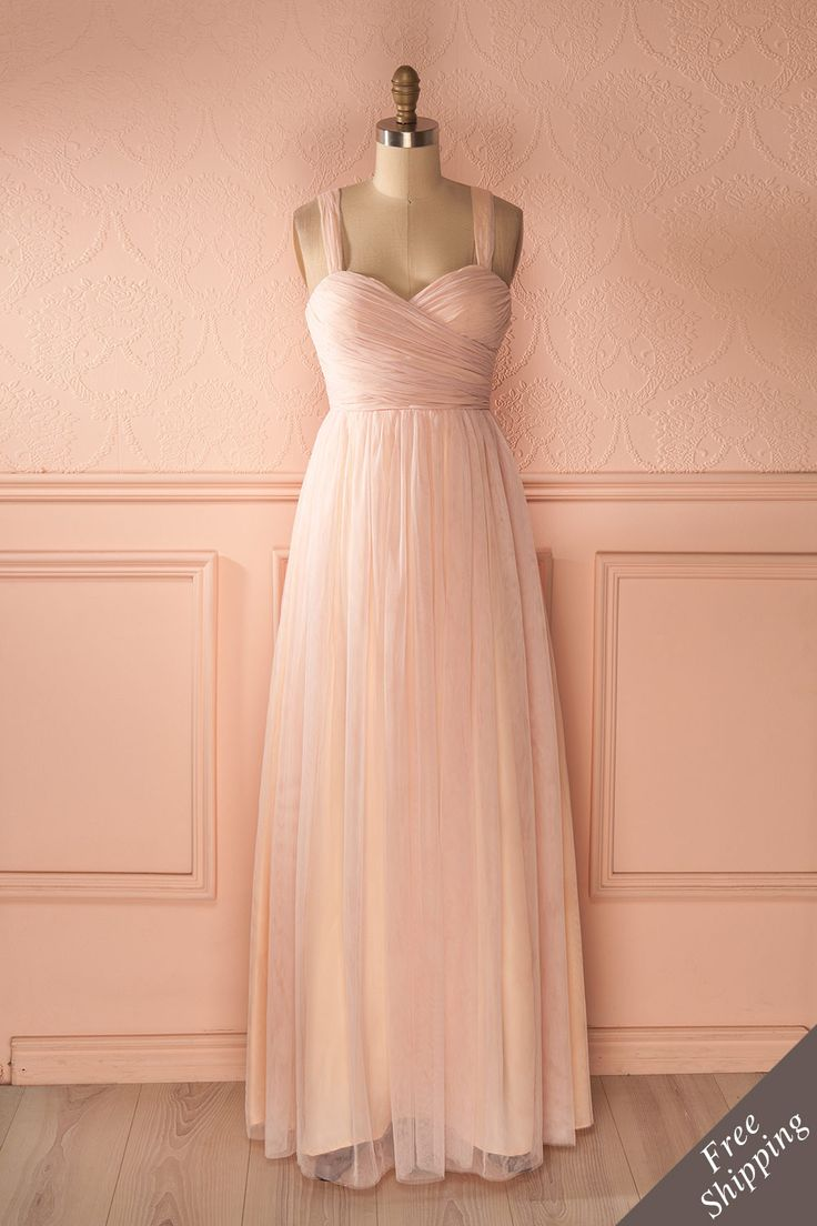 ne histoire merveilleuse était sur le point de s'écrire...    A wonderful story was about to be written... Maxi pink tulle prom dress www.1861.ca