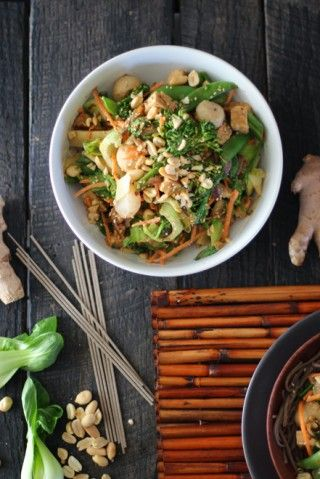 Peanut Tempeh Stir-Fry with Soba Noodles