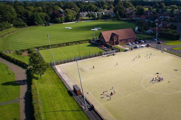 Aerial View of Cambusdoon Sports Club - Photo by AerialPixls