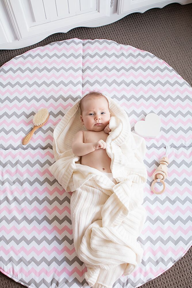 Play Mat- Chevron Pink