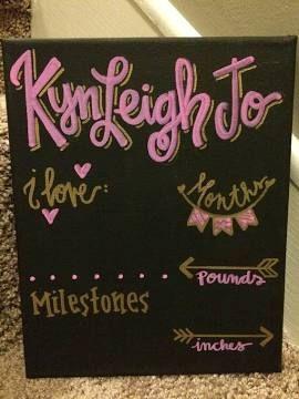 baby month chalkboard