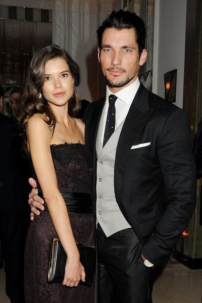 Sarah Ann Macklin (L) and David Gandy attend the Harper's Bazaar Women of the Year Awards 2012, in association with Estee Lauder, Harrods and Tiffany & Co., at Claridge's Hotel on October 31, 2012 in London, England.