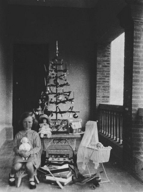 Simpler times  Christmas tree, ca. 1935 by State Library of Queensland, Australia, via Flickr