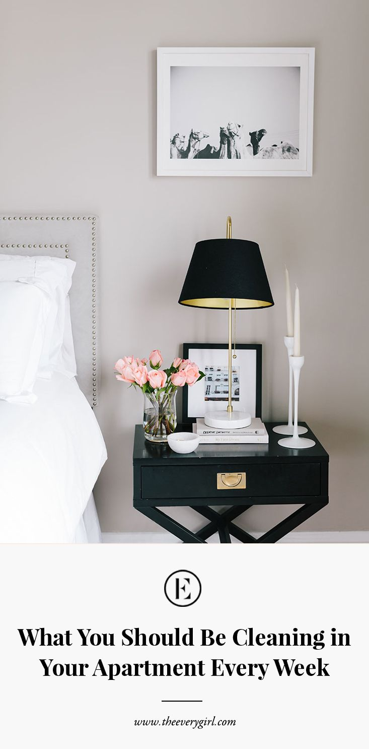 What You Should Be Cleaning In Your Apartment Every Week Table Lamps For Bedroom Side Tables Bedroom Bedroom Side Table Lamps