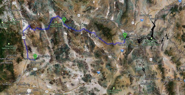 USA 2012 - Las Vegas, das Tal des Todes und Schnee - weitere Planungen
