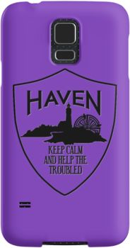 Haven Syfy Inspired Phone Cases/Skins | Haven Keep Calm Black Logo Badge | Snap Cases,Tough Cases, & Skins for Galaxy S3-S4-S5-S6-S6 Edge-S6 Edge Plus-S7-S7Edge | iPhone 4s/4 5c/5s/5 6/6Plus SE/5s/5 & iPhone Wallets **All designs available for all models.