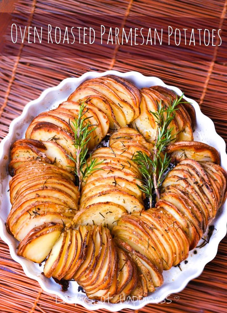 Easy Oven Roasted Parmesan Potatoes | Layers of Happiness