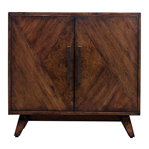 Best Elegant Geometric Pieced Burl Wood Accent Cabinet Mid 400 x 300