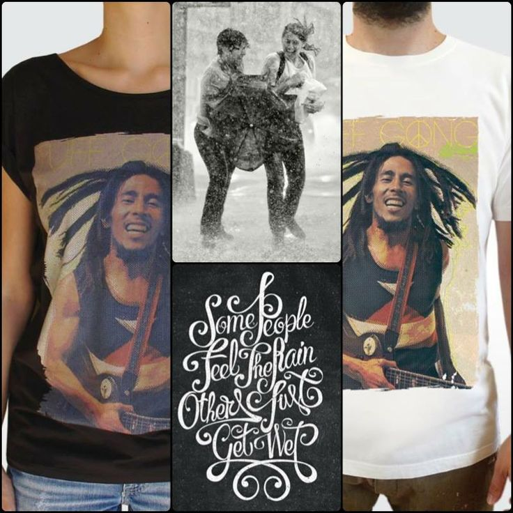 "- Some people feel the rain. Others just get wet. - Bob Marley.    Games in the rain for 2!!! Order the Bob Marley ""artified"" t-shirt at artifiedstore.com e-shop. Available both for men & women in a variety of colors!  MEN: http://www.artifiedstore.com/en/men/51-m31-bob-marley.html WOMEN: http://www.artifiedstore.com/en/w/26-w20-bob-marley-t-shirt.html"
