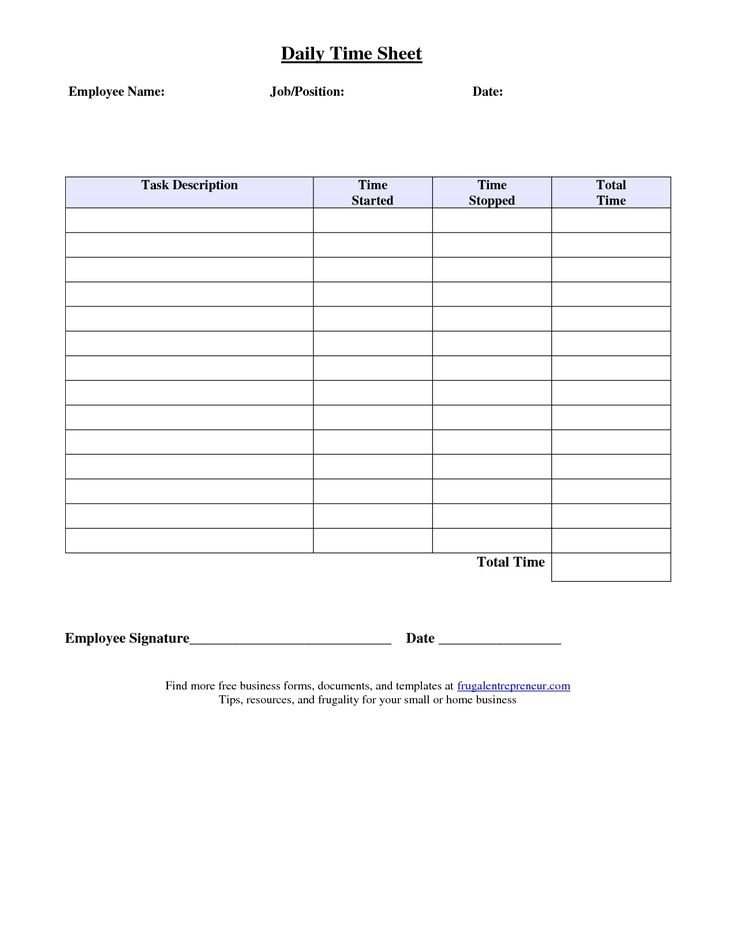 Job Sheet Format Excel Best Photos Of Job Time Sheet Template6 - employee timesheet