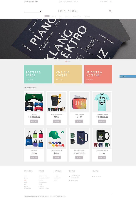 Online Print Shop Shopify Theme 50968 Online print shop