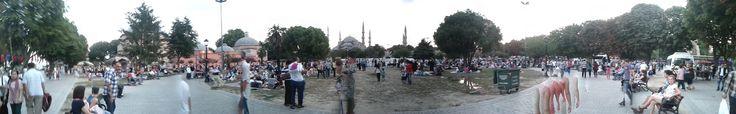 #Panoramique de la place #Sultanahmet en #Turquie !
