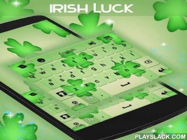 """Irish Luck Keyboard  Android App - playslack.com ,  De Ieren staan bekend om hun geluk, onder andere inheemse symbolen, zodat we dit thema opgesteld voor iedereen die wat kon gebruiken: Iers Geluk TOETSENBORD! DOWNLOAD Iers Geluk Keyboard NU en je kan de pot met goud aan het einde van de regenboog! - Om te installeren, volg gewoon de 3 stappen: open na het downloaden, drukt u op """"Instellen als Active Theme"""" en selecteer het thema van de volgende pagina! - De verbazingwekkende HD…"""