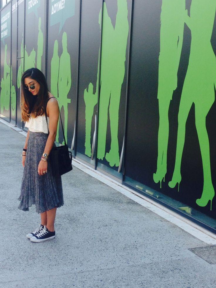 Street fashion , by nadia rapti , skirt soleil , lace body