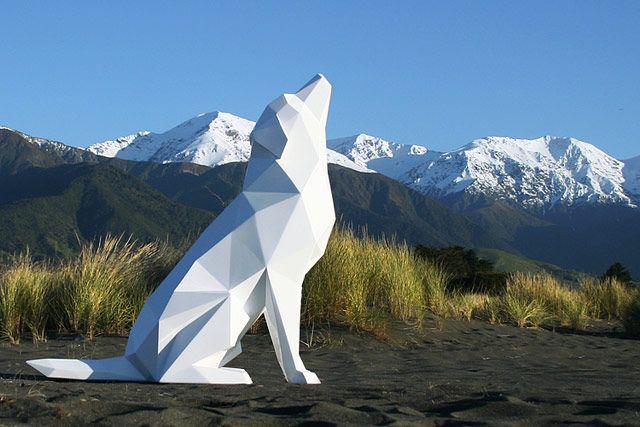 Voxel animals sculptures. New Zealand artist Ben Foster.