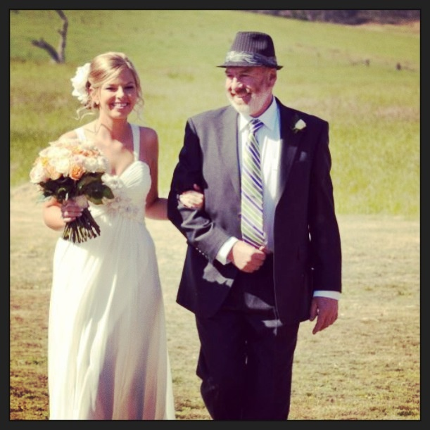 Father and daughter #farmwedding #prouddad