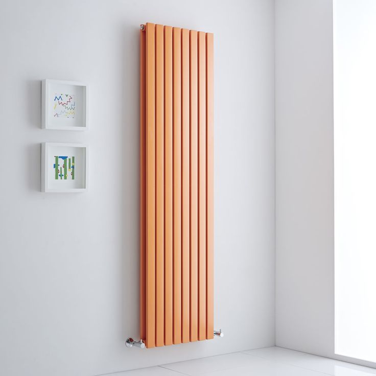 Tall orange Milano Capri - A designer radiator for the ages. What else is there to say?