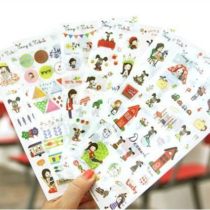 1pack/lot   NEW north Europe PVC sticke DIY label Multifunction Decoration stationery stickers Phone Diary Decorative Sticker  #Affiliate