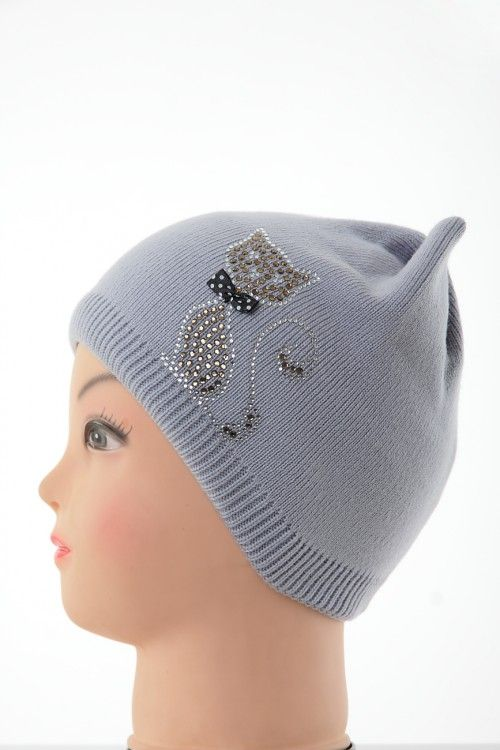 Шапка В0264 Цвет: серый Цена: 270 руб.  http://optom24.ru/shapka-v0264/  #одежда #женщинам #шапки #оптом24