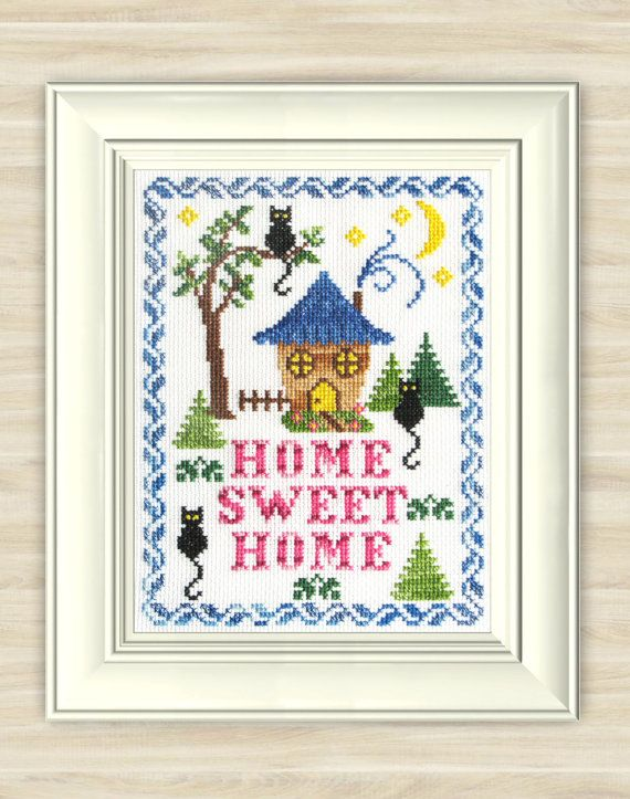 Buy 2 get 1 free Home sweet home Cross Stitch by TimeForStitch