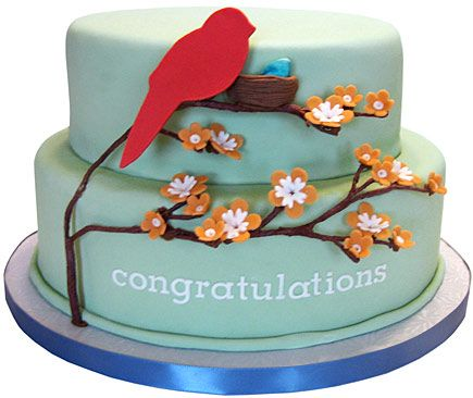 I like the tree branches on this cake. The Sugar Syndicate Custom Cake