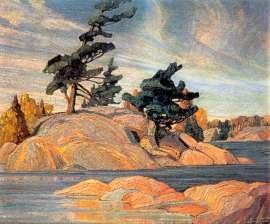 Island, Georgian Bay (1920) by Franklin Carmichael, Canadian painter
