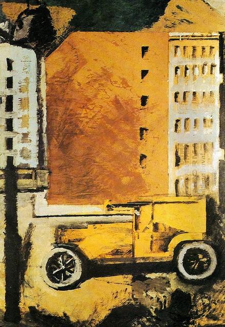 Il camion giallo, 1918 by Mario Sironi (Italian)