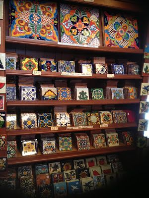 I'm using these around my outdoor fireplace.  Pottery Tile - The Mexican handmade Talavera ceramic tiles