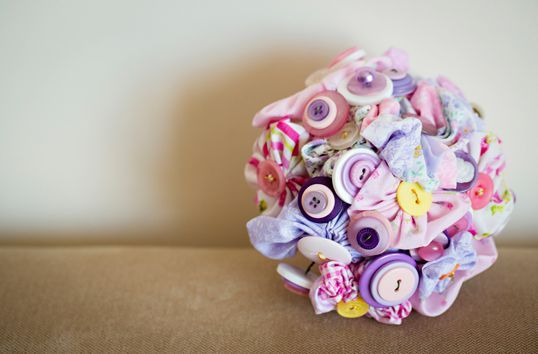Welcome - Custom made button wedding bouquets